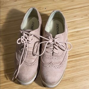 Women's suede oxfords